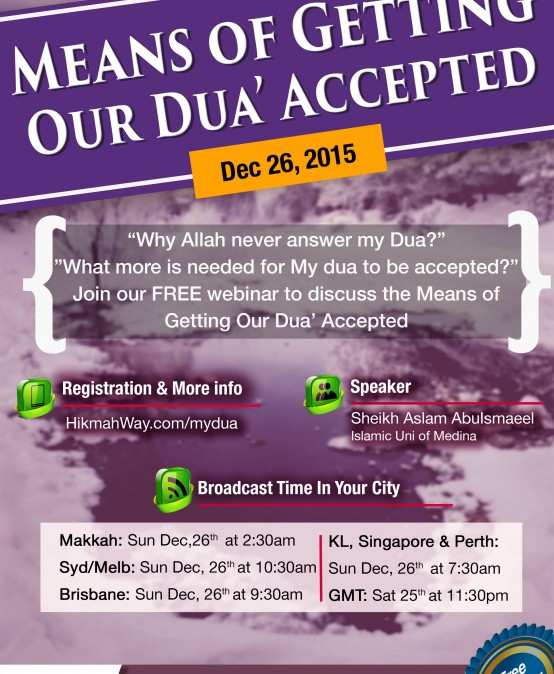 [Ended] Means of Getting our Dua Accepted