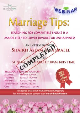 Marriage webinar