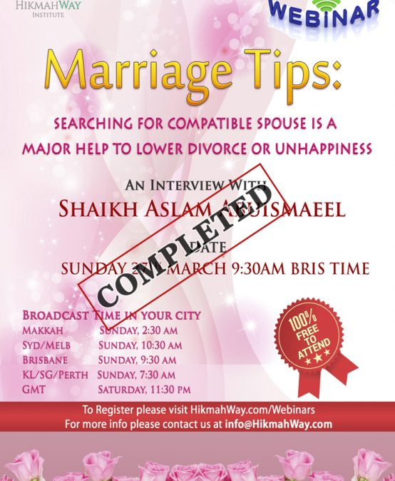 [ENDED] Marriage Tips: Searching for Compatible Spouse is a Major Help to Lower Divorce or Unhappiness