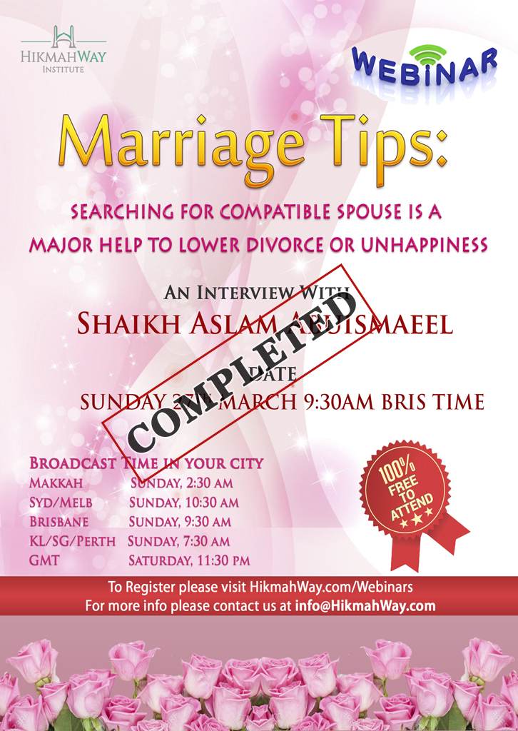 ENDED] Marriage Tips: Searching for Compatible Spouse is a Major