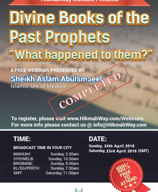 [ENDED] – Divine Books of the Past Prophet, What happened to Them?