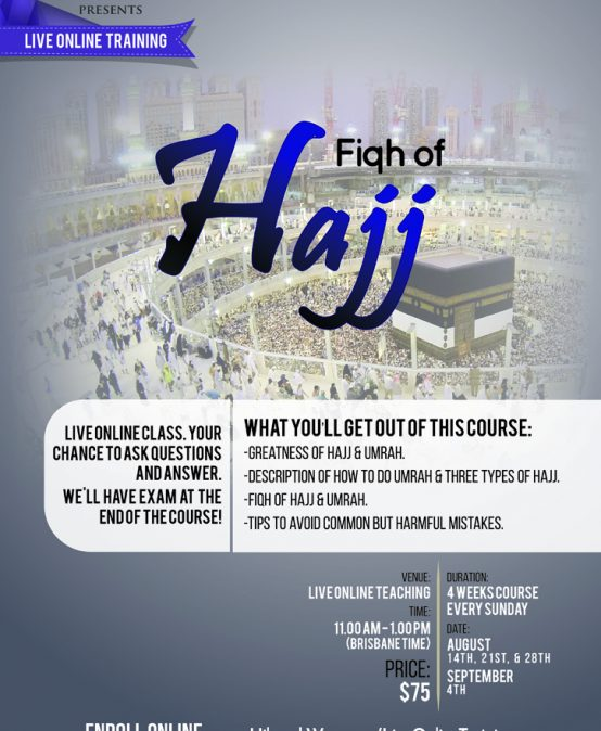 Live Online Class: Fiqh of Hajj
