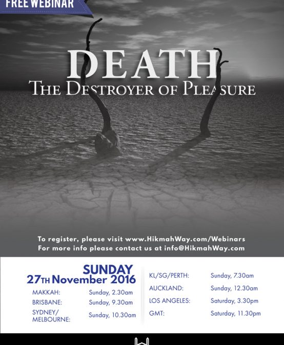 Death – The Destroyer of Pleasure [Free Webinar]
