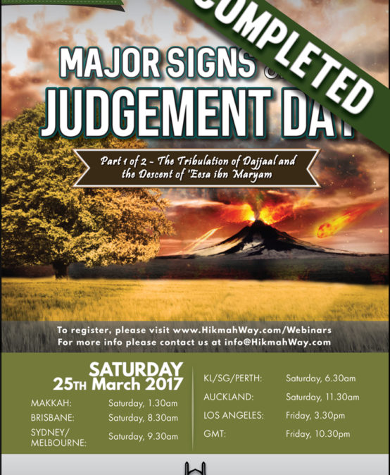 [ENDED] Major Signs of Judgement Day