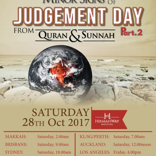 [Ended] Minor Signs of Judgement Day Part 2 Online Lecture