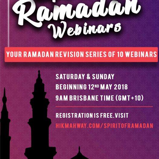 Spirit of Ramadan Webinar 2018